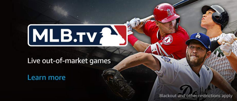 MLB.tv blackout and out of market only ad from Amazon Prime