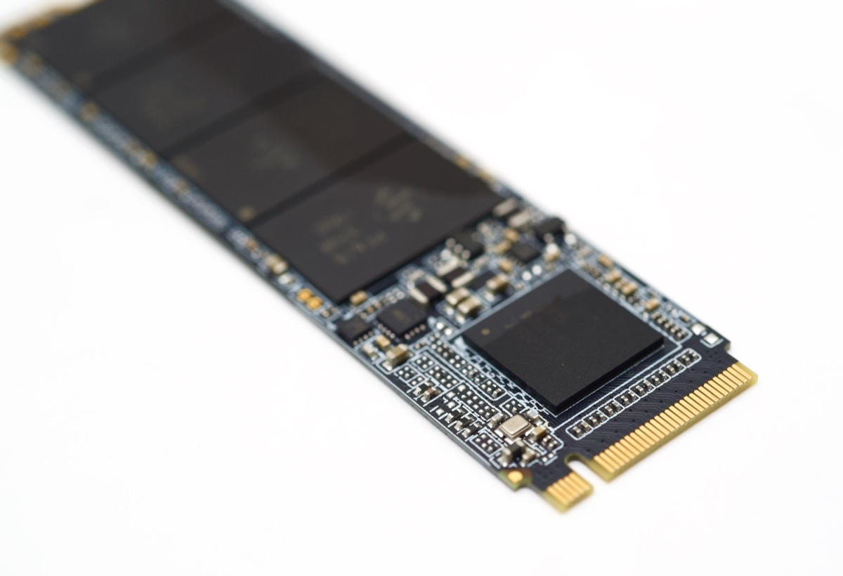 NVMe M.2 connector and controller chip - SSD
