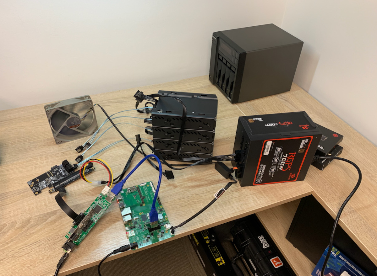 Raspberry Pi NAS almost final setup