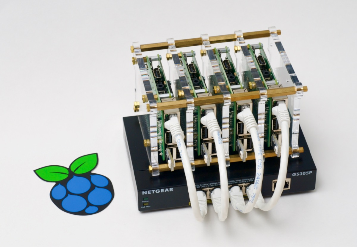 Raspberry Pi Dramble Cluster with Sticker - 2019 PoE Edition