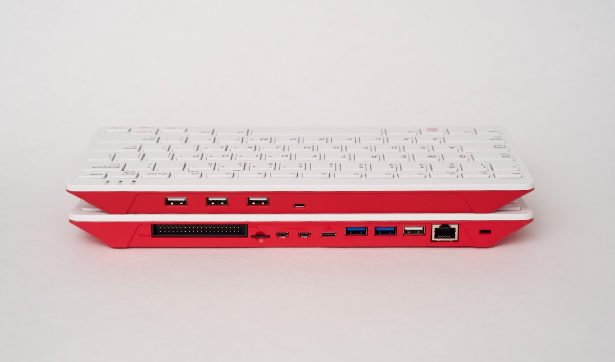 Raspberry Pi 400 and Pi Keyboard back ports
