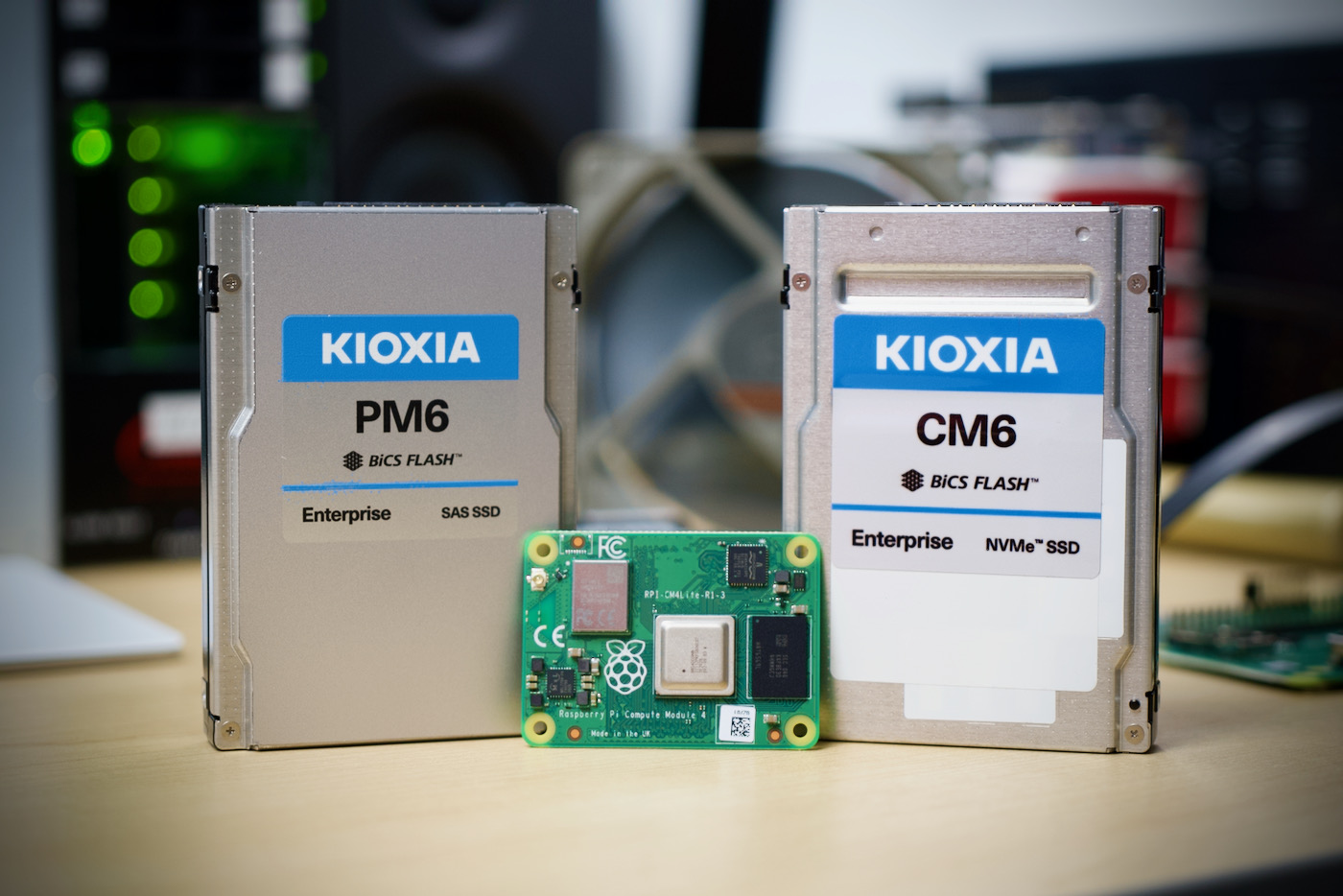KIOXIA CM6 and PM6 SSD with Raspberry Pi Compute Module 4