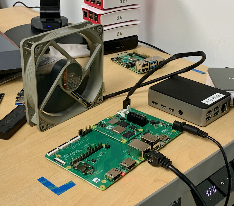 Raspberry Pi Compute Module 4 CPU Overclock Setup with Noctua Fan