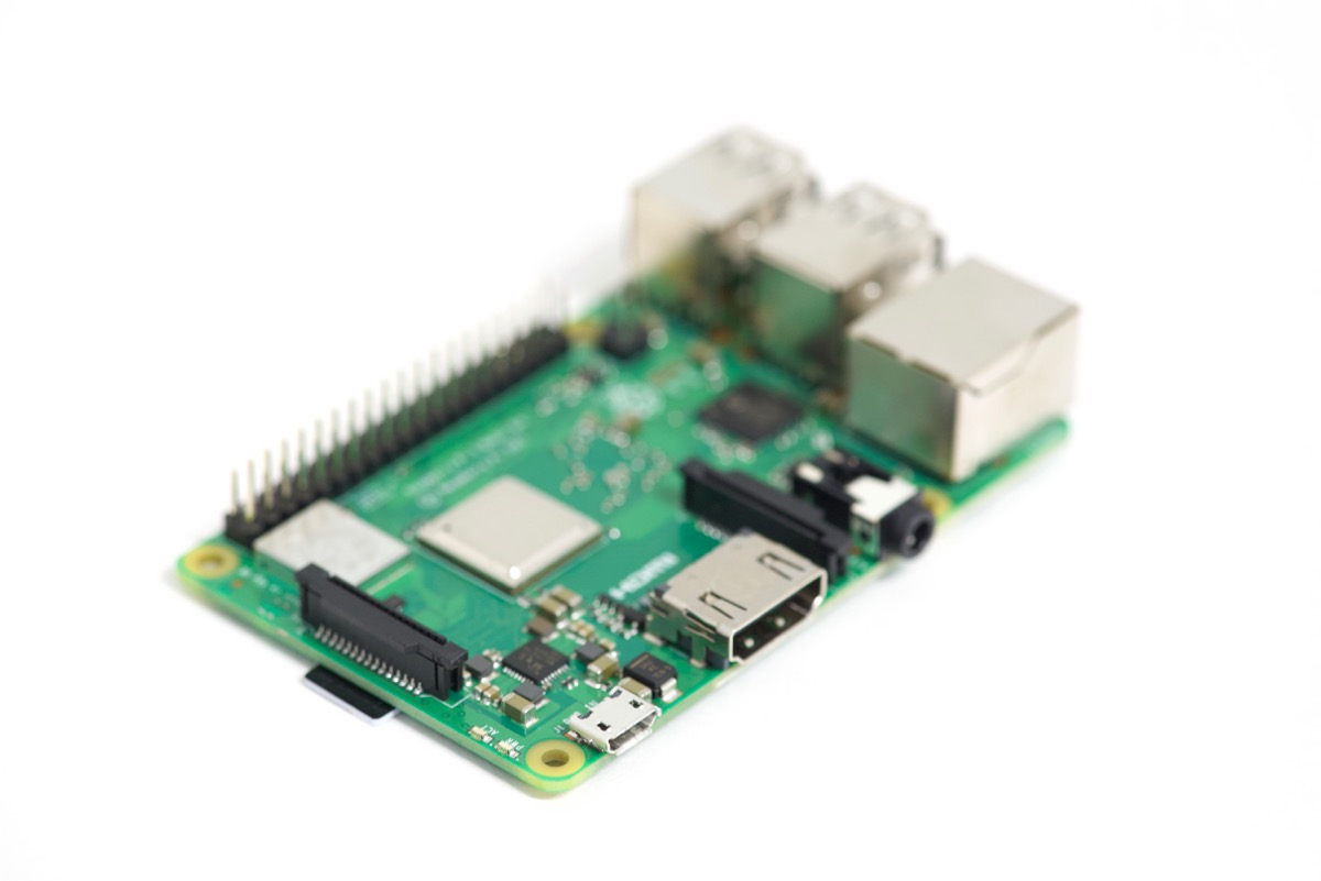 Raspberry Pi focus stack first image focused on front edge