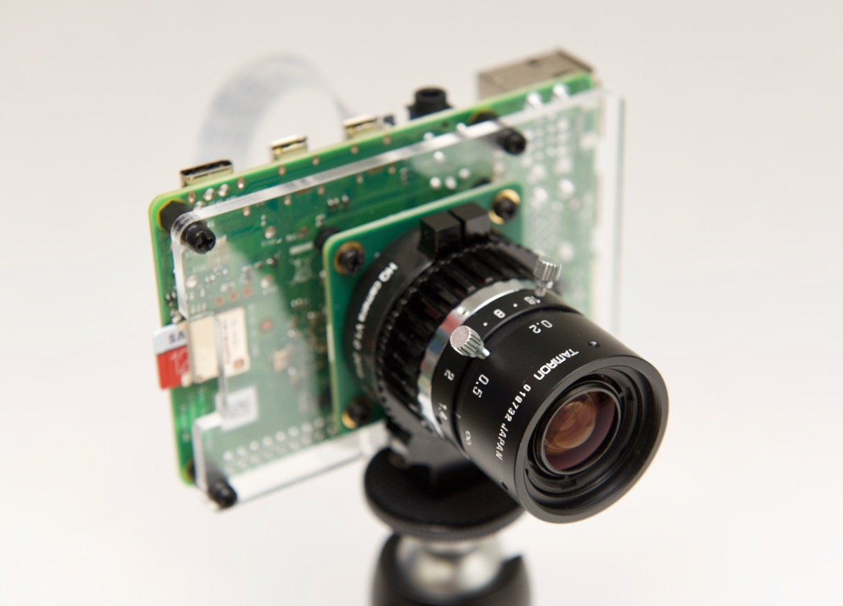 Raspberry Pi HQ Camera with Tamron 8mm C-mount lens