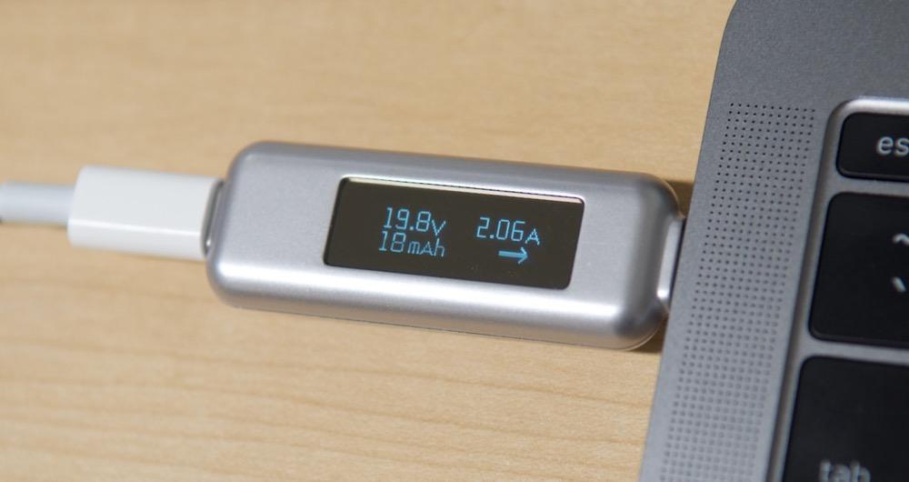 Satechi USB-C Power Meter input 2.06A
