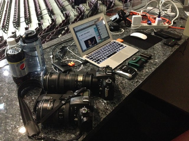 Photo Gear / Workstation at Steubenville 2013