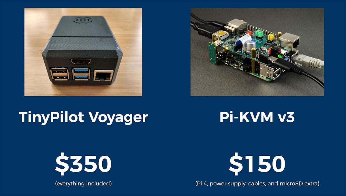 Raspberry Pi KVMs compared: TinyPilot and Pi-KVM v3