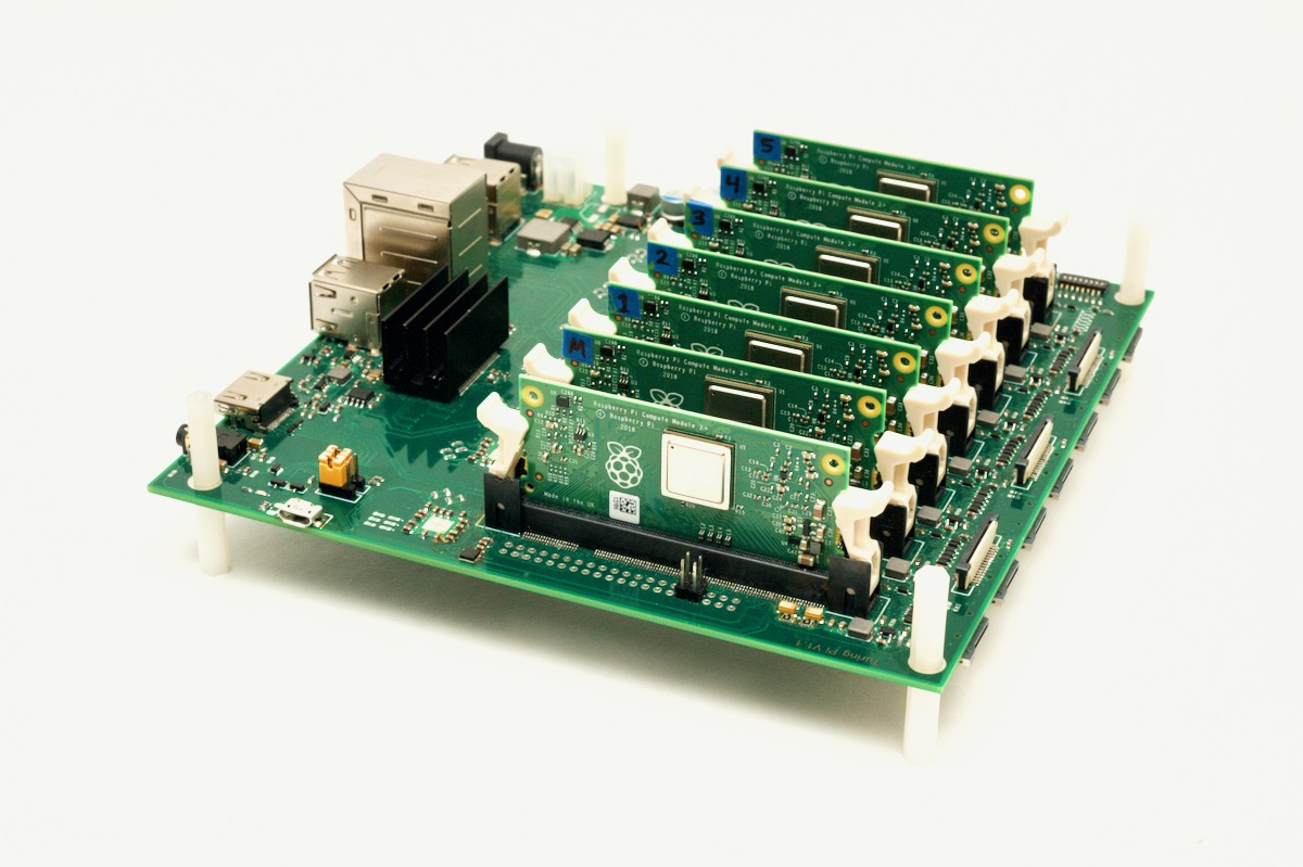 Turing Pi with 7 Raspberry Pi Compute Modules