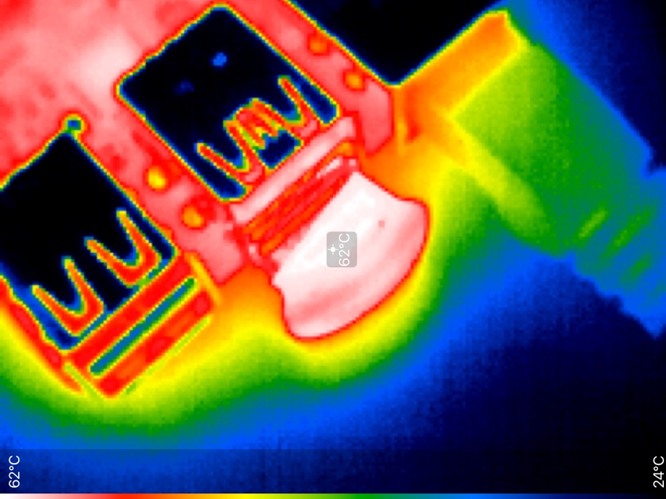 Ultra fit gets very hot in thermal image