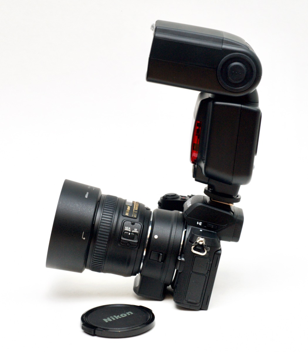 Z50 balance issues with FTZ adapter and 50mm lens and flash strobe