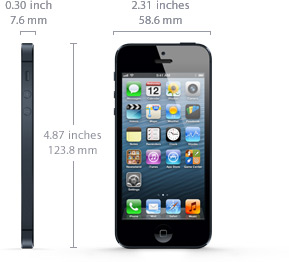iPhone 5 Specs and Dimensions