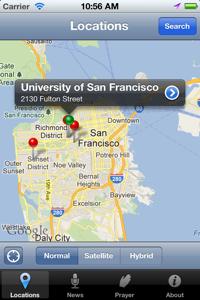 Jesuit App for iOS - Locations