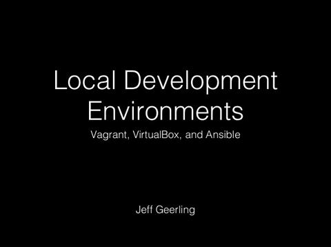 Local Development Environments