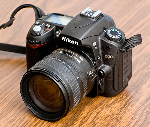 Nikon D90 with 18-70mm lens