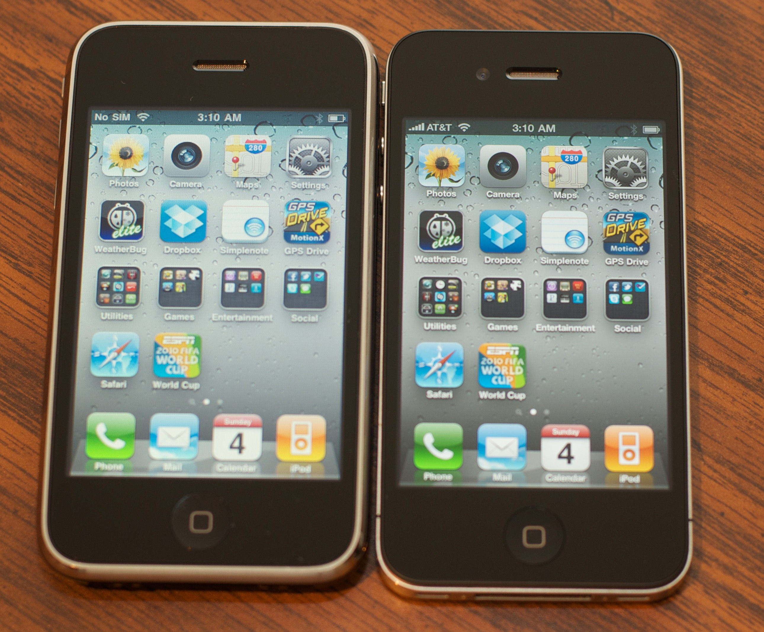 iPhone 4 to iPhone 3Gs screen pixel comparison - Retina display
