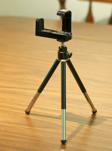 iPhone 4 Tripod Stand and Adapter - from eBay
