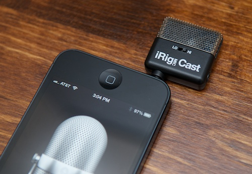 iRig Mic Cast on iPhone 5