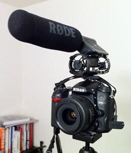Rode VideoMic Shotgun microphone on Nikon D7000