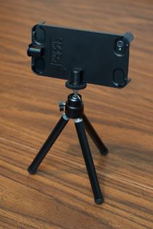Snapmount for iPhone - on mini Tripod