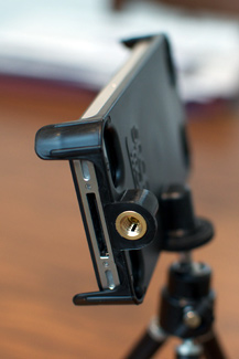 Tripod mount - ports easy to access
