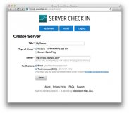 Create Server Form - Server Check.in