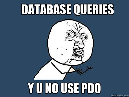 Why don't you use PDO for Database queries?